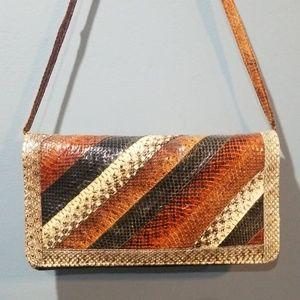 Vintage Patchwork snakeskin handbag
